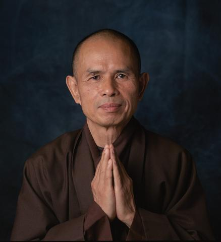 A photo of Thich Nhat Hanh, a Buddhist Monk
